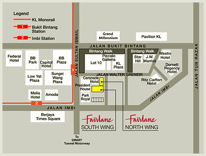 Bintang Fairlane Residences | Map